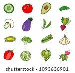lovely vector set with... | Shutterstock .eps vector #1093636901