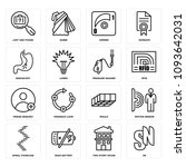 set of 16 simple editable icons ... | Shutterstock .eps vector #1093642031