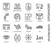 set of 16 simple editable icons ...   Shutterstock .eps vector #1093644389