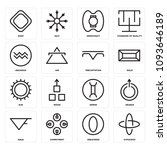 set of 16 simple editable icons ... | Shutterstock .eps vector #1093646189