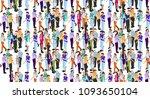 isometric business people... | Shutterstock .eps vector #1093650104