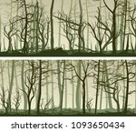 set vector horizontal wide... | Shutterstock .eps vector #1093650434