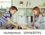 two little children playing... | Shutterstock . vector #1093650791