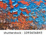 blue painted metal with rust... | Shutterstock . vector #1093656845