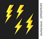lightning symbols vector... | Shutterstock .eps vector #1093659245