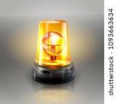orange flasher siren vector.... | Shutterstock .eps vector #1093663634
