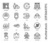 set of 16 simple editable icons ... | Shutterstock .eps vector #1093664591
