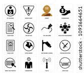 set of 16 simple editable icons ... | Shutterstock .eps vector #1093664651