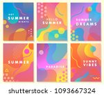 unique artistic summer cards... | Shutterstock .eps vector #1093667324