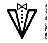 tuxedo vector icon eps 10. suit ... | Shutterstock .eps vector #1093667807