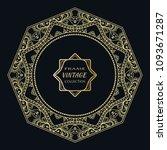 golden frame template with... | Shutterstock .eps vector #1093671287
