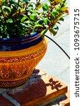 beautiful ceramic flower pot on ...   Shutterstock . vector #1093675715