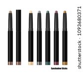 set of eyeshadow sticks in... | Shutterstock .eps vector #1093680371