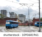russia. moscow. blue trams on... | Shutterstock . vector #1093681961