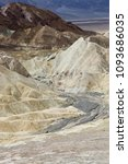 Small photo of Zabriskie point with famous geological formation
