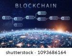 blockchain financial technology ... | Shutterstock . vector #1093686164
