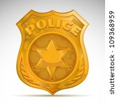 vector police badge | Shutterstock .eps vector #109368959