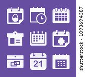 filled set of 9 date icons such ... | Shutterstock .eps vector #1093694387