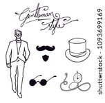 fashion gadgets for mens .... | Shutterstock .eps vector #1093699169