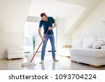 people  housework and... | Shutterstock . vector #1093704224