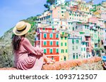 young woman with great view at... | Shutterstock . vector #1093712507