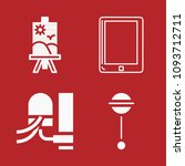 set of 4 tool filled icons such ... | Shutterstock .eps vector #1093712711