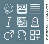 signs icon set   outline... | Shutterstock .eps vector #1093716995