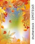 autumn banner with spider web ... | Shutterstock .eps vector #109373165