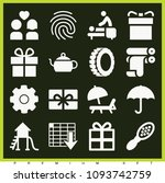 set of 16 other filled icons...   Shutterstock .eps vector #1093742759