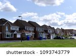 a quiet suburban cul de sac... | Shutterstock . vector #1093743779