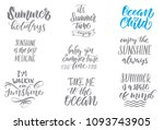 summer holidays quotes. vector... | Shutterstock .eps vector #1093743905