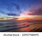 beautiful colors balinese ocean ... | Shutterstock . vector #1093748495