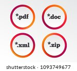 document icons. file extensions ... | Shutterstock .eps vector #1093749677