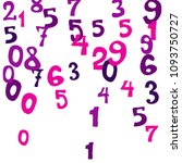 falling colorful numbers on... | Shutterstock .eps vector #1093750727