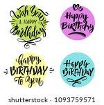 happy birthday. vector... | Shutterstock .eps vector #1093759571