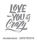 love. vector calligraphy... | Shutterstock .eps vector #1093759574