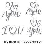 love. vector calligraphy... | Shutterstock .eps vector #1093759589