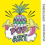 pop art cartoons concept | Shutterstock .eps vector #1093765841