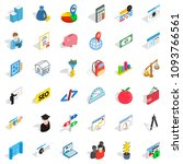 wall icons set. isometric style ... | Shutterstock . vector #1093766561