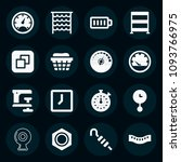 set of 16 tool filled icons...   Shutterstock .eps vector #1093766975