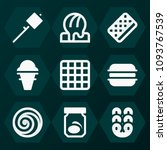 set of 9 sweet filled icons... | Shutterstock .eps vector #1093767539