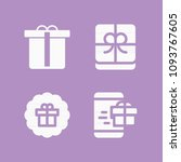 gift filled set of vector icons ... | Shutterstock .eps vector #1093767605