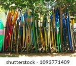 big set of different surfing... | Shutterstock . vector #1093771409