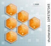 vector abstract 3d paper... | Shutterstock .eps vector #1093787345