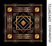 art deco background geometric... | Shutterstock .eps vector #1093789721