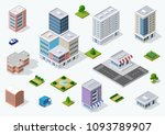 set of town district | Shutterstock . vector #1093789907