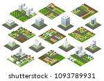 set urban district | Shutterstock . vector #1093789931