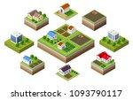 farm set of houses | Shutterstock . vector #1093790117