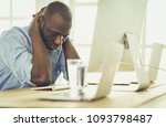 tired or depressed businessman...   Shutterstock . vector #1093798487