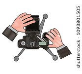 hands with camera photographic... | Shutterstock .eps vector #1093801505